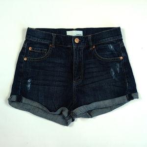 Garage Retro High Waist Stretch Size 1 Jean Shorts